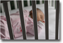 Baby in a crib sleeping